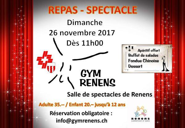 Repas-spectacle de la Gym Renens