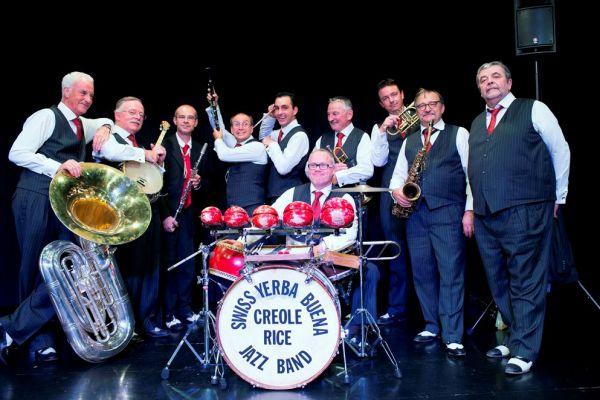 Concert du Swiss Yerba Buena Créole Rice Jazz Band