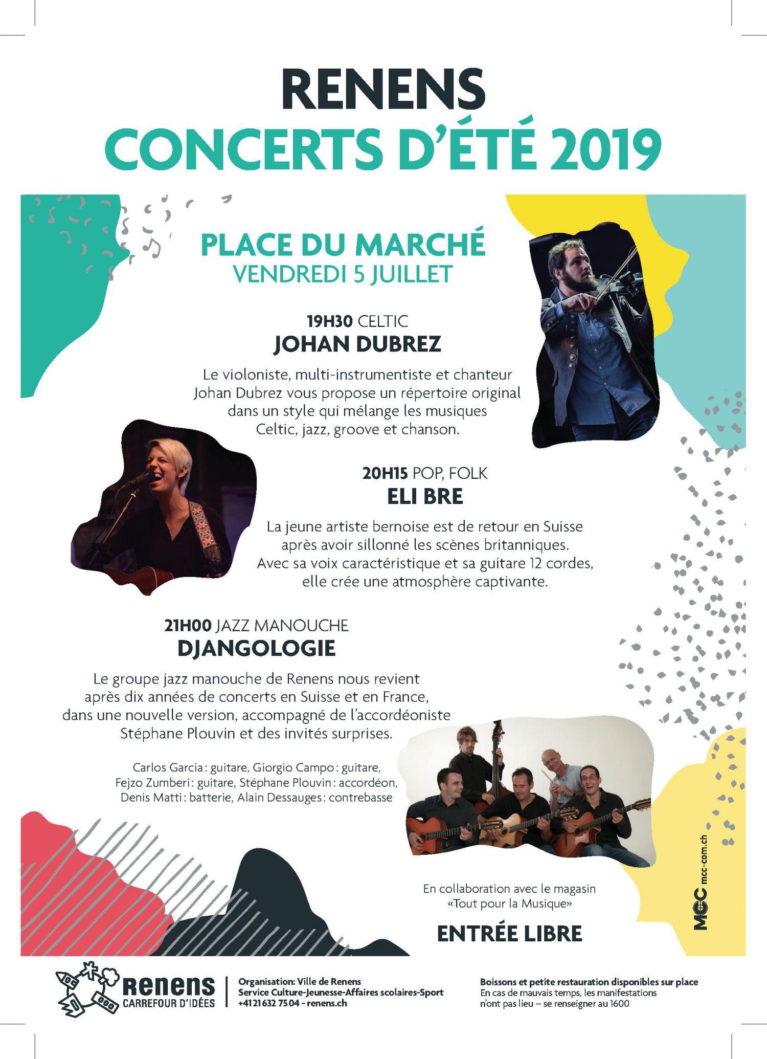 Concerts d'été sur la Place du Marché