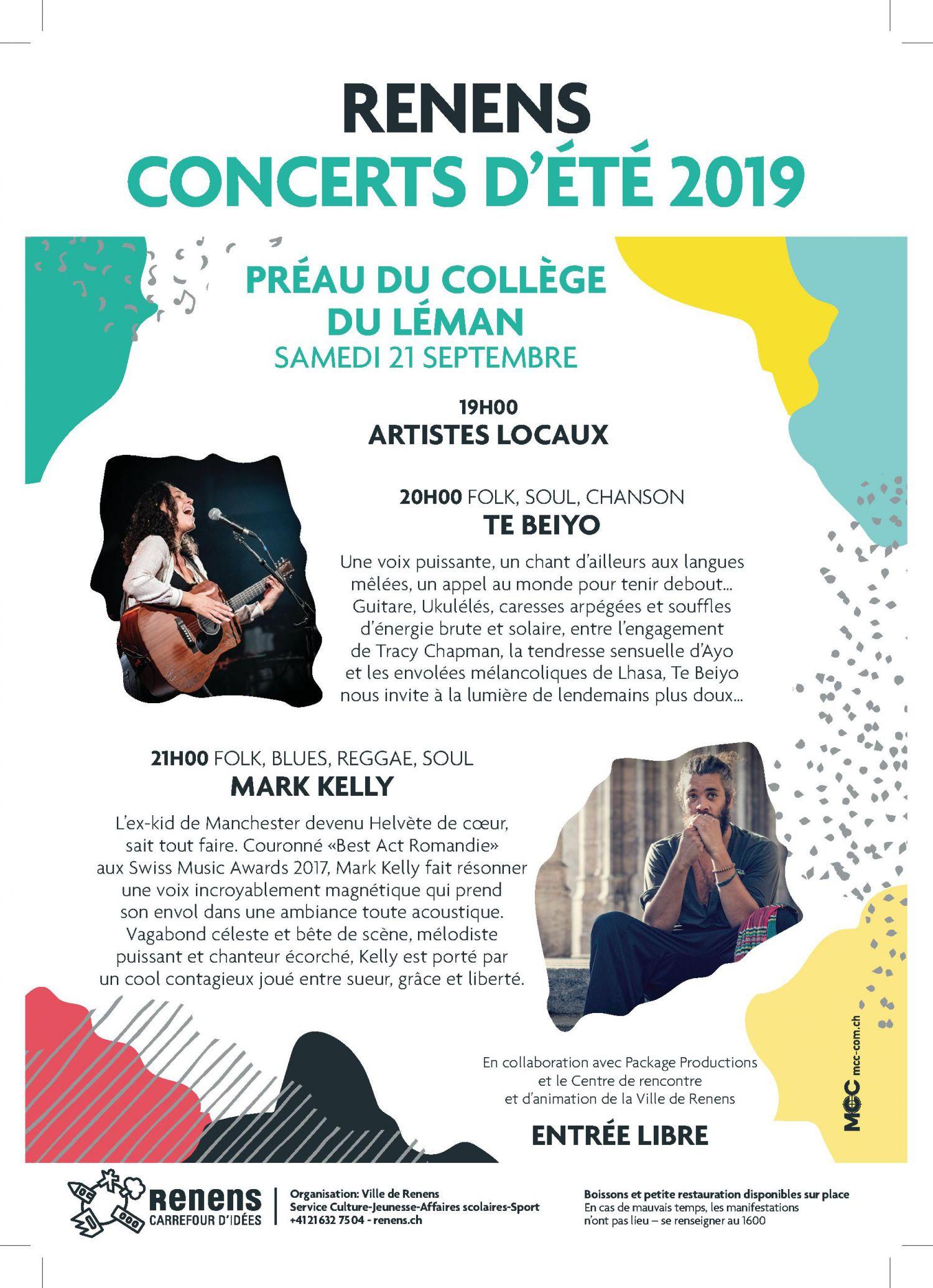 Concerts d'été au Collège du Léman
