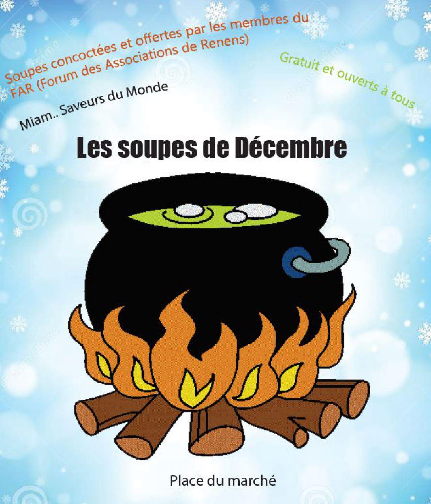 Les Soupes de décembre sur la Place du Marché
