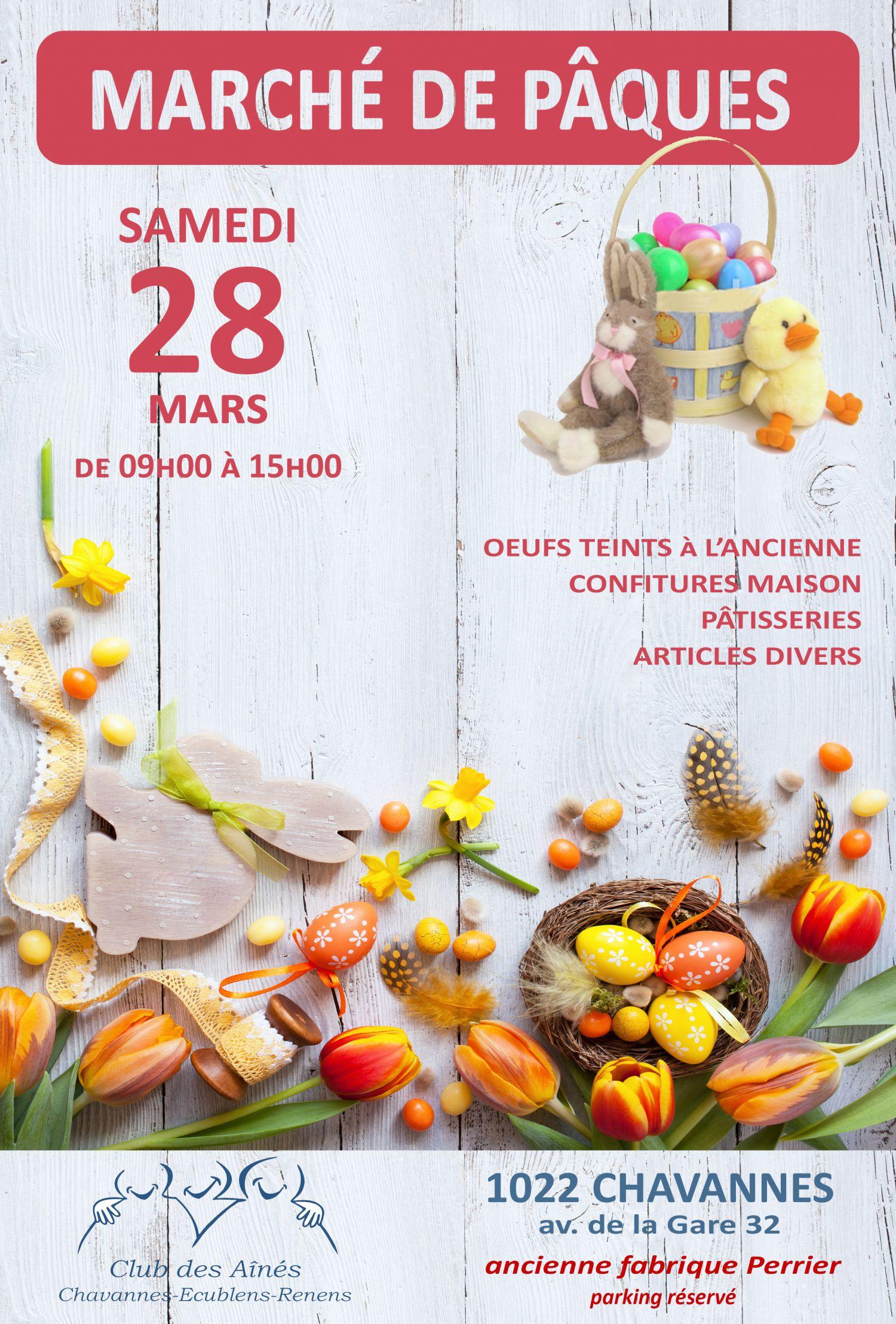 Marché de Pâques du Club des Aînés de Chavannes-Ecublens-Renens - ANNULÉ