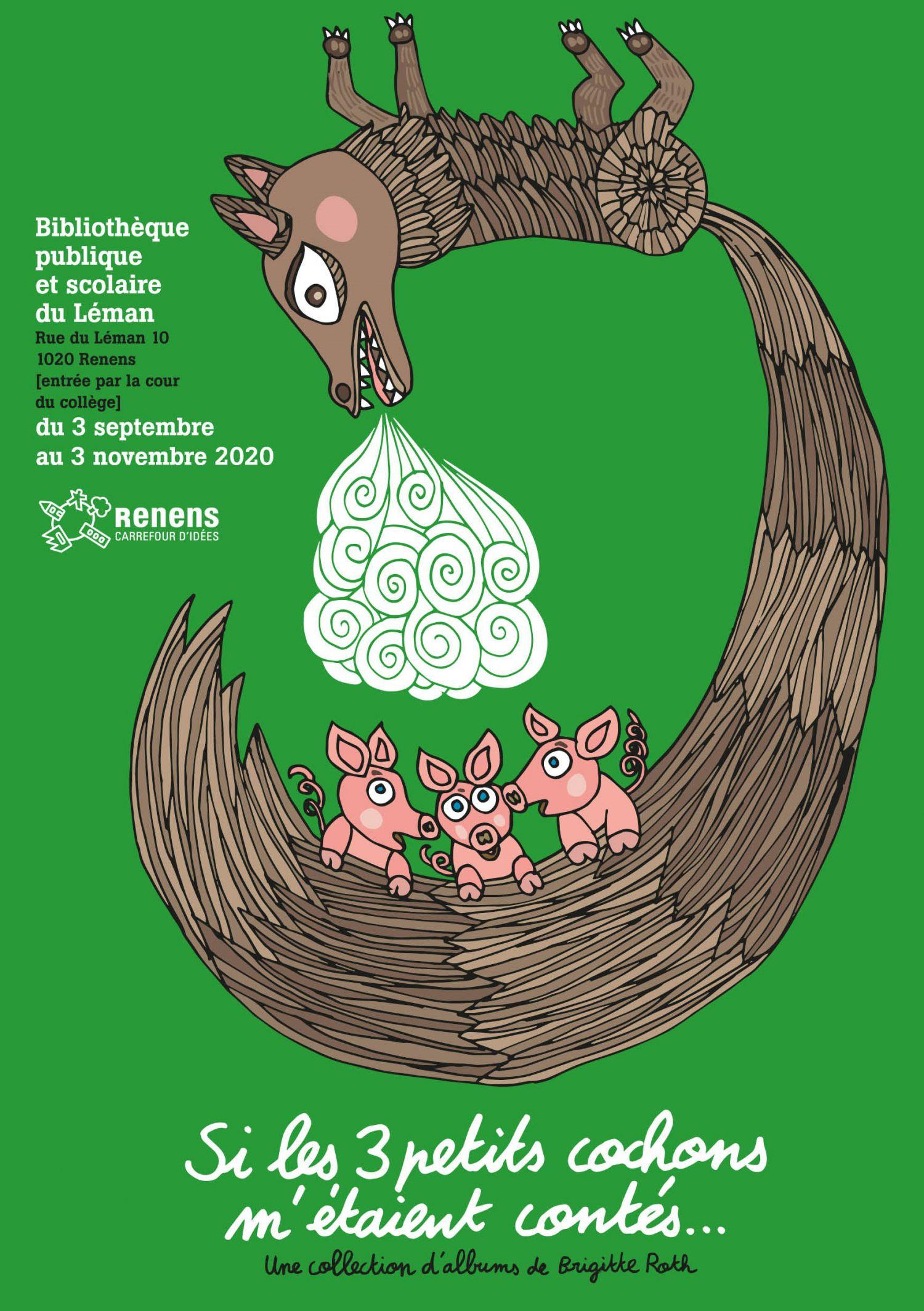 Bibliothèque du Léman - Expo Si les 3 petits cochons m'étaient contés...