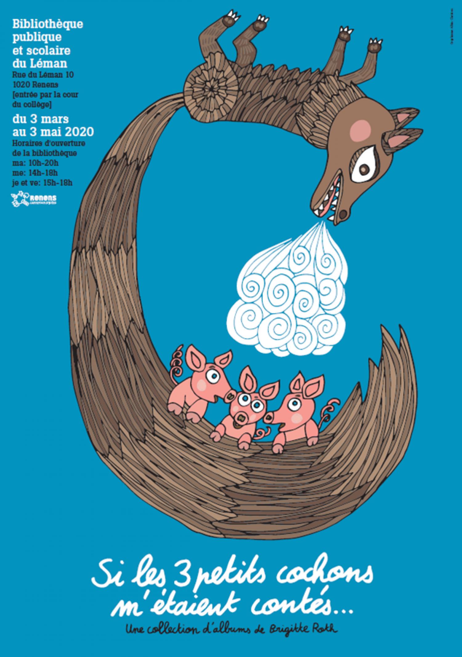 Bibliothèque du Léman - Exposition: Si les 3 petits cochons m'étaient contés...