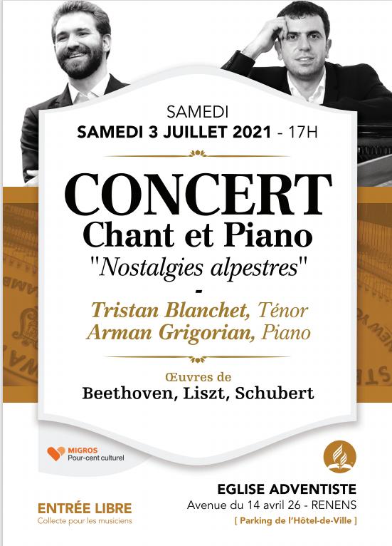 Concert chant et piano 'Nostalgies alpestres'