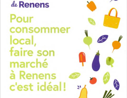 Marché de Renens: Stand de la Municipalité