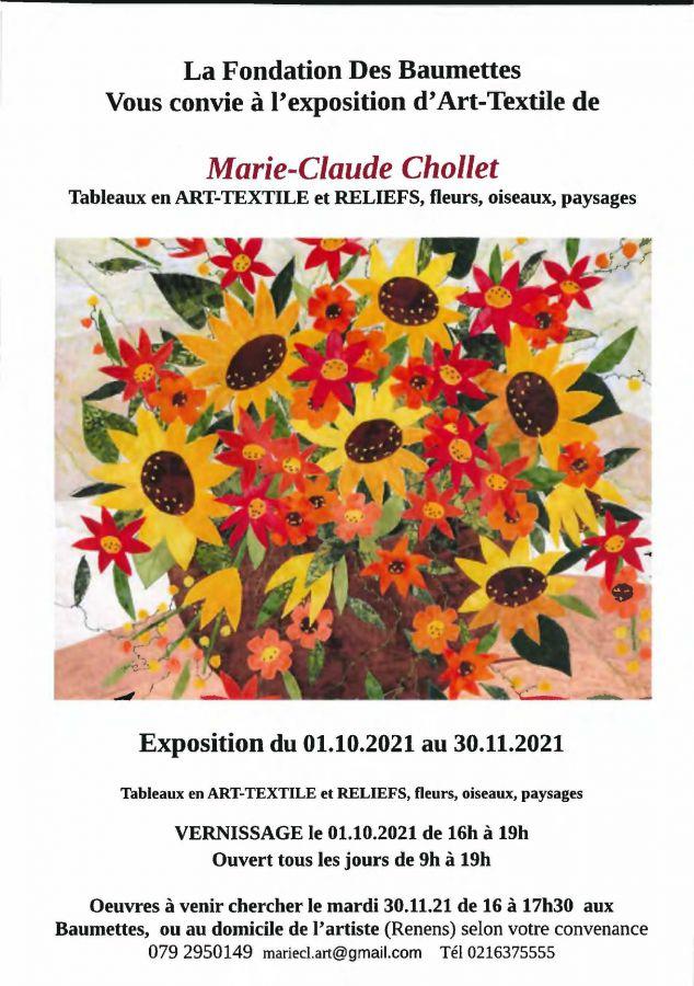 Fondation les Baumettes - Exposition Marie-Claude Chollet