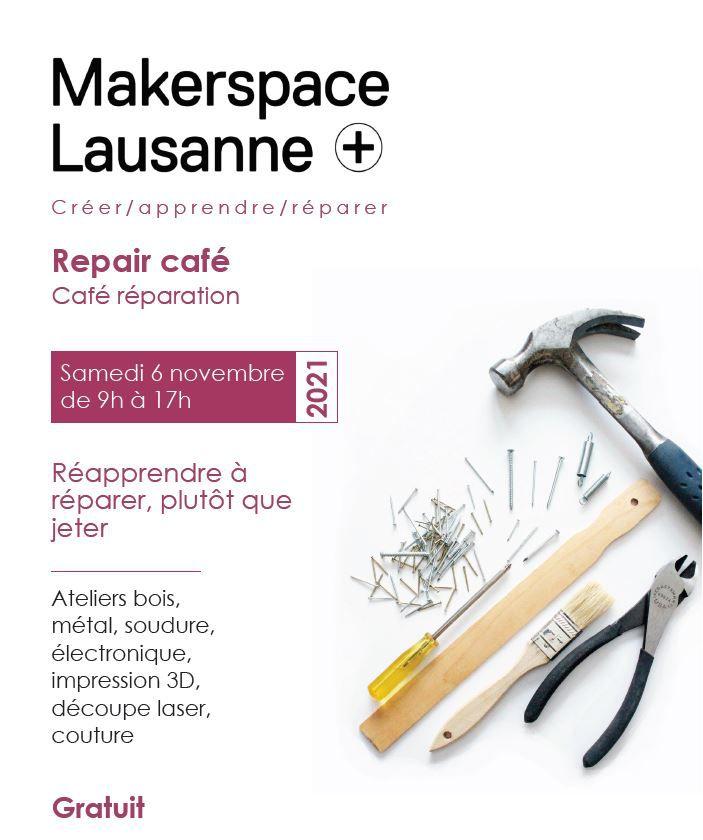 Ateliers pour réapprendre à réparer du Makerspace Lausanne