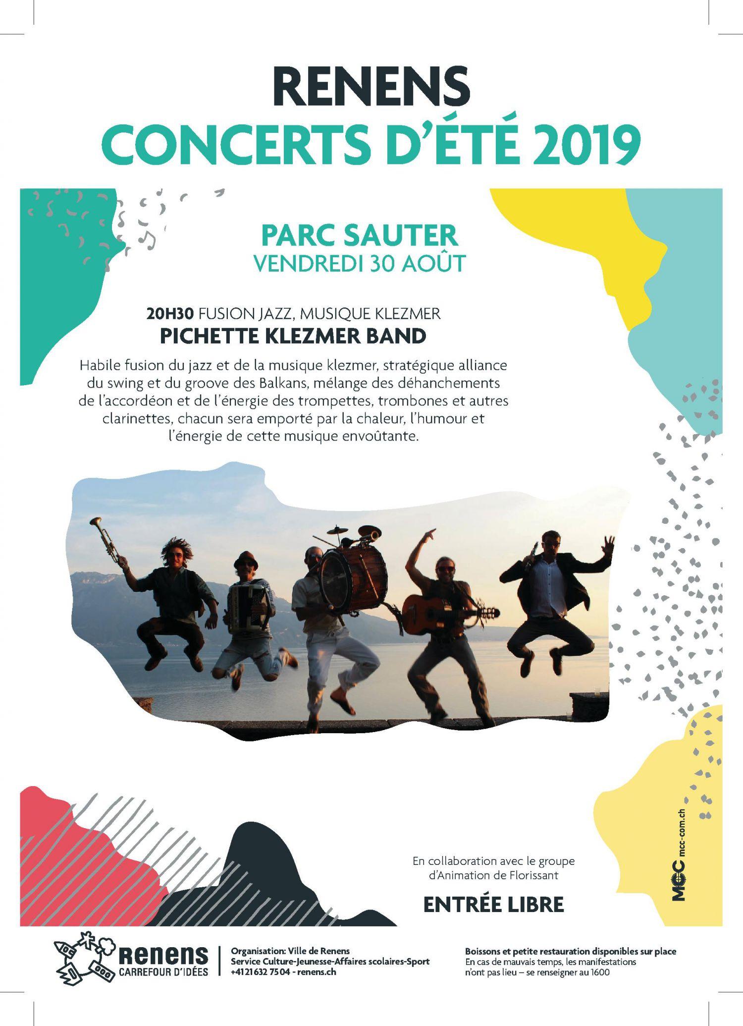 Concert d'été : Pichette Klezmer band