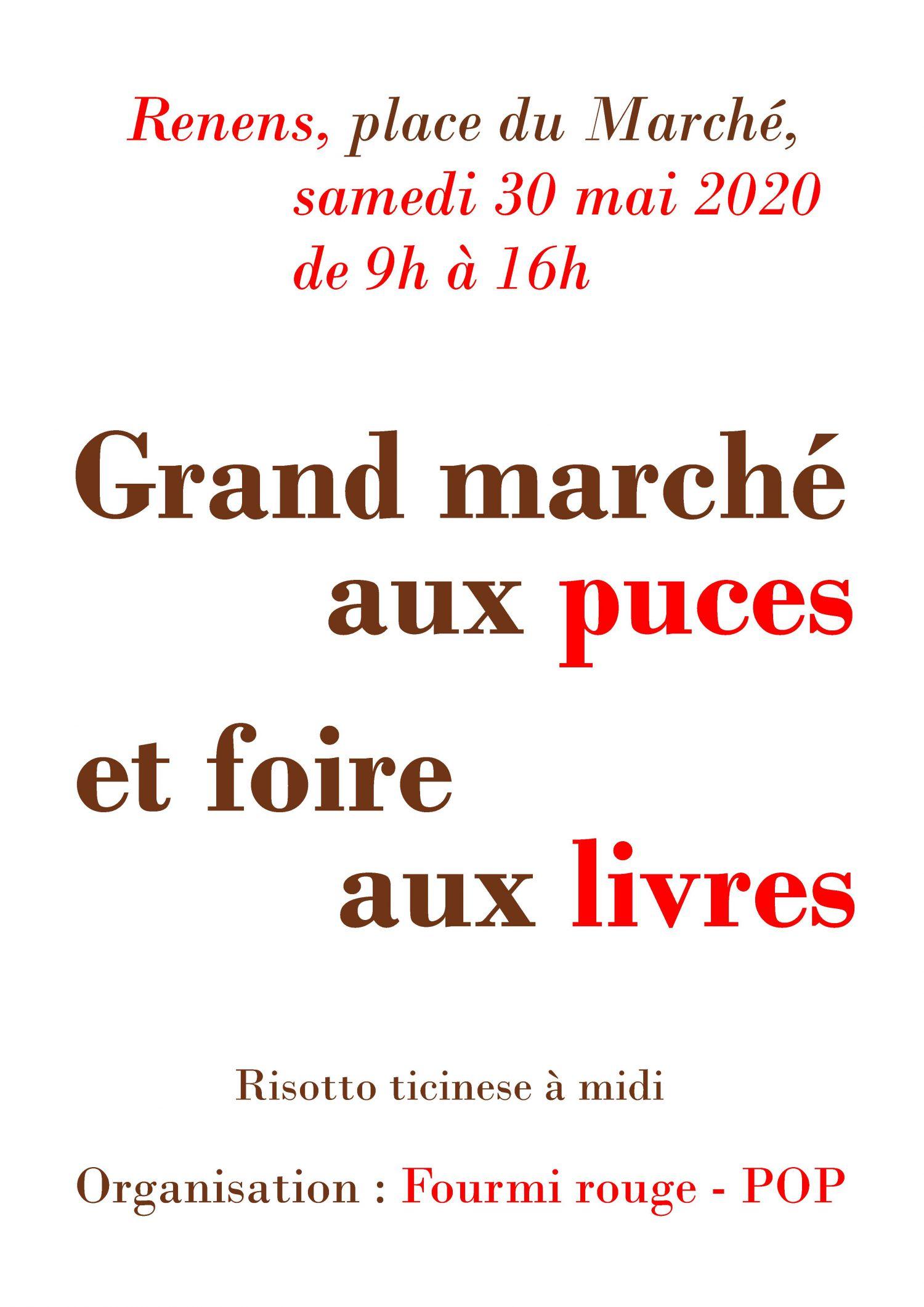 Marché aux puces de la Fourmi Rouge sur la place du Marché