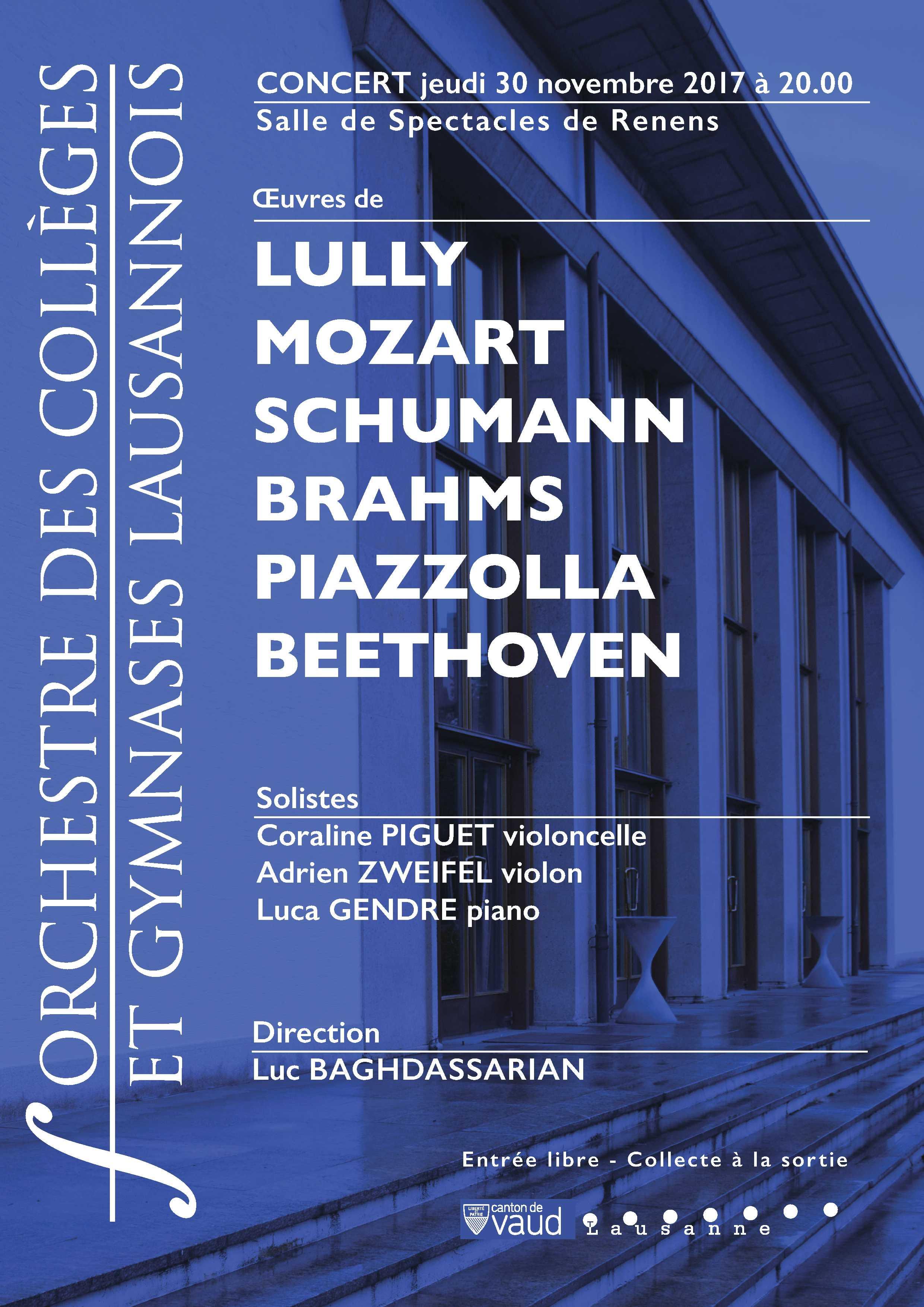 Concert de l'Orchestre des collèges et gymnases lausannois