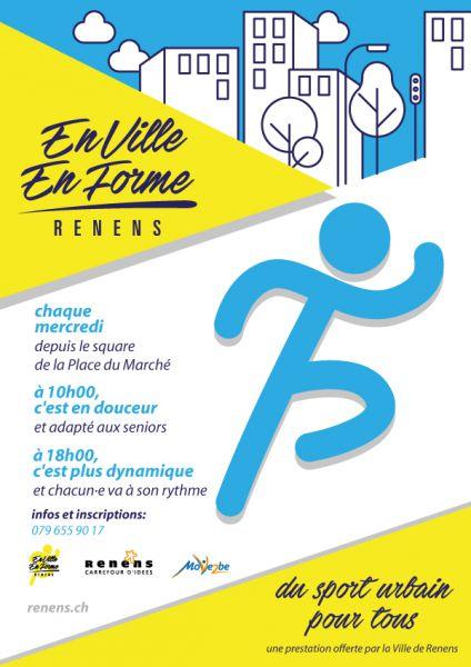 """Reprise du fitness urbain gratuit """"En Ville En Forme""""!"""
