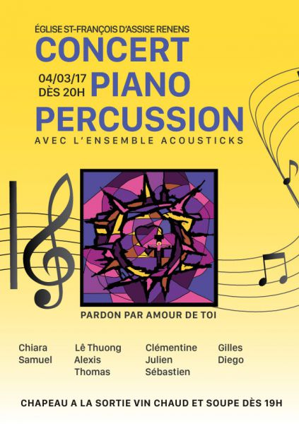 Concert Piano Percussion avec l'ensemble Acousticks