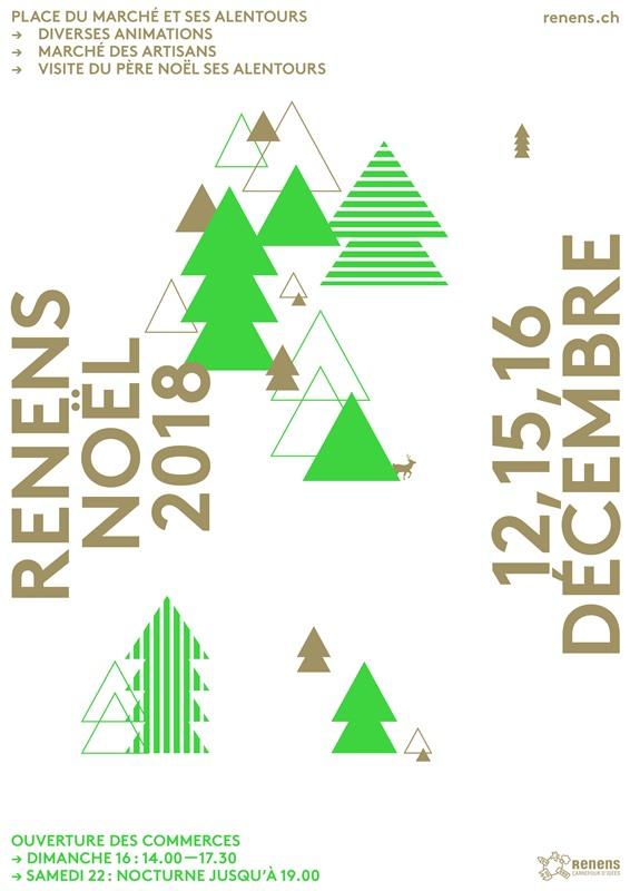 Noël à Renens les 12, 15 et 16 décembre