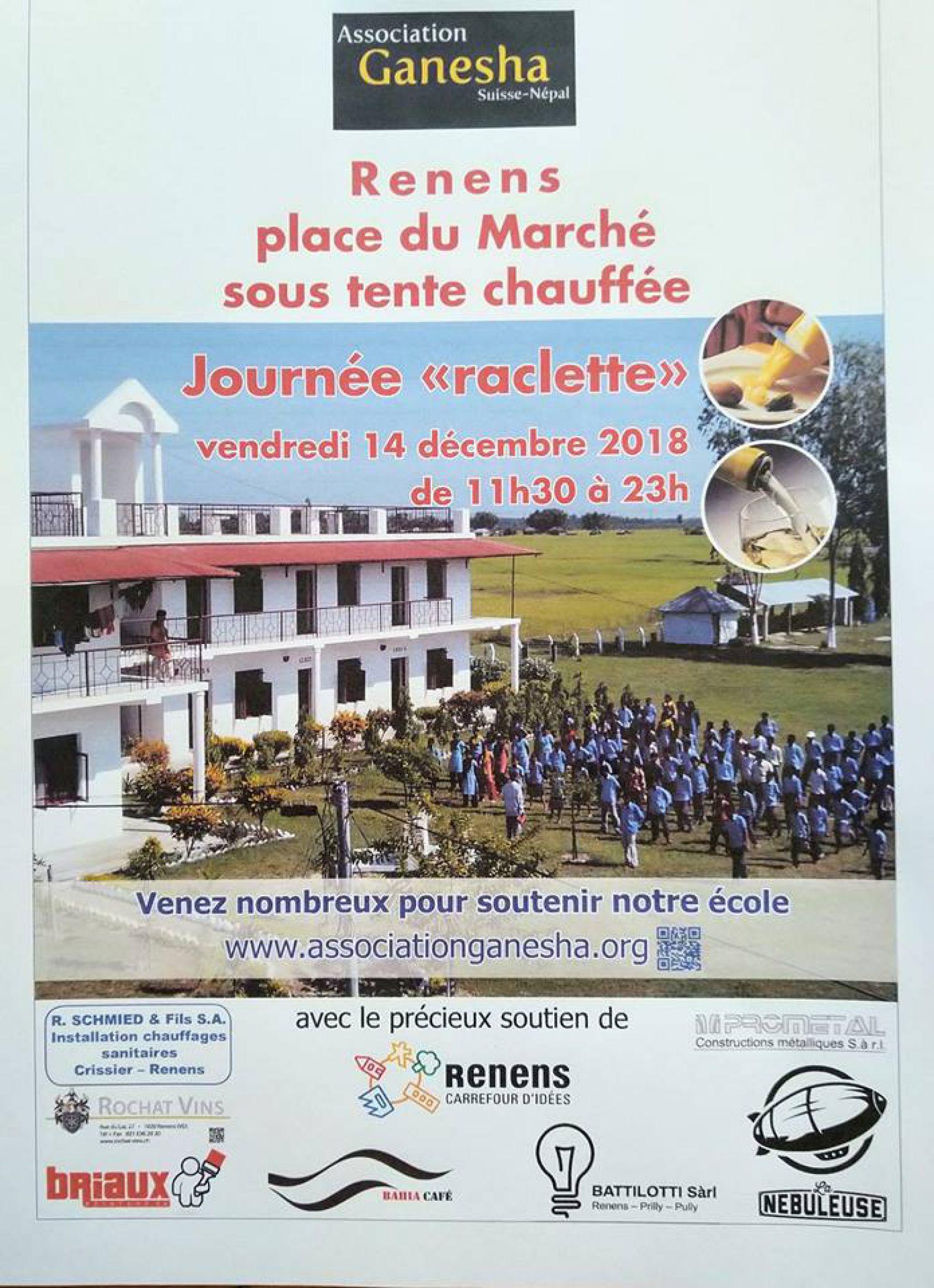 Raclette en faveur de l'école Ganesha au Népal