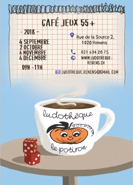 Café Jeux 55+ à la ludothèque le Potiron