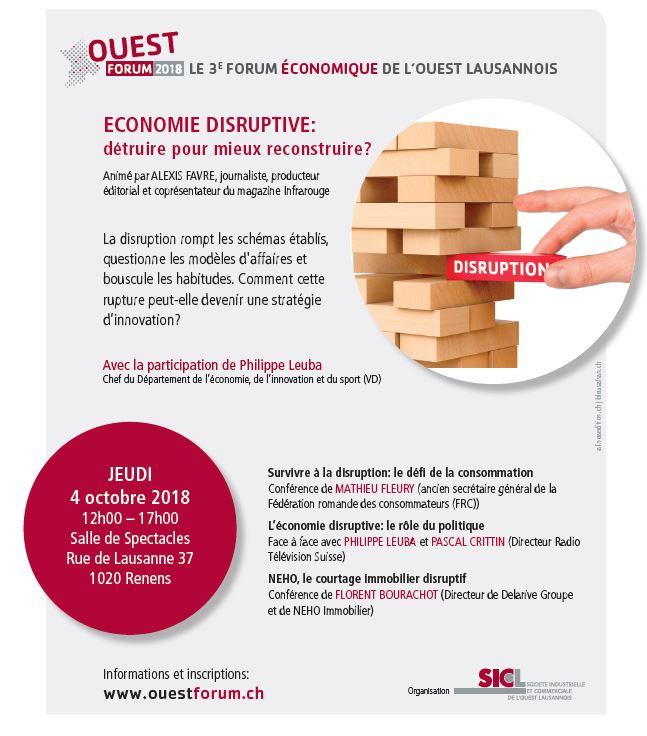 Ouest Forum 2018 - 3e Forum �conomique de l'Ouest lausannois