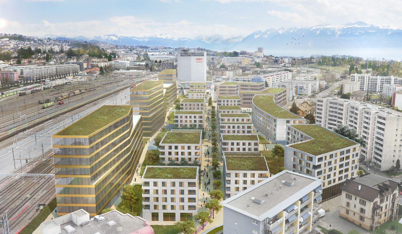 Information sur le projet immobilier «Parc du Simplon» à Renens Entrepôts