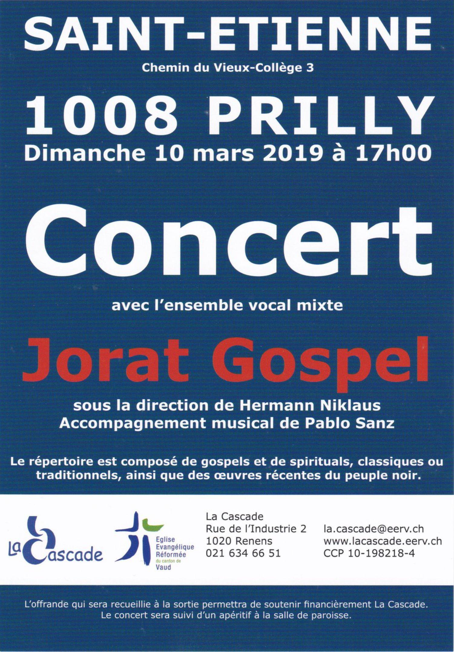 Concert de gospel en faveur de l'Association La Cascade