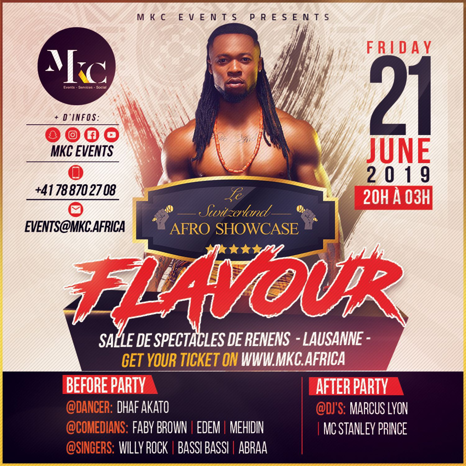 Concert Afrobeat Flavour N'Abania