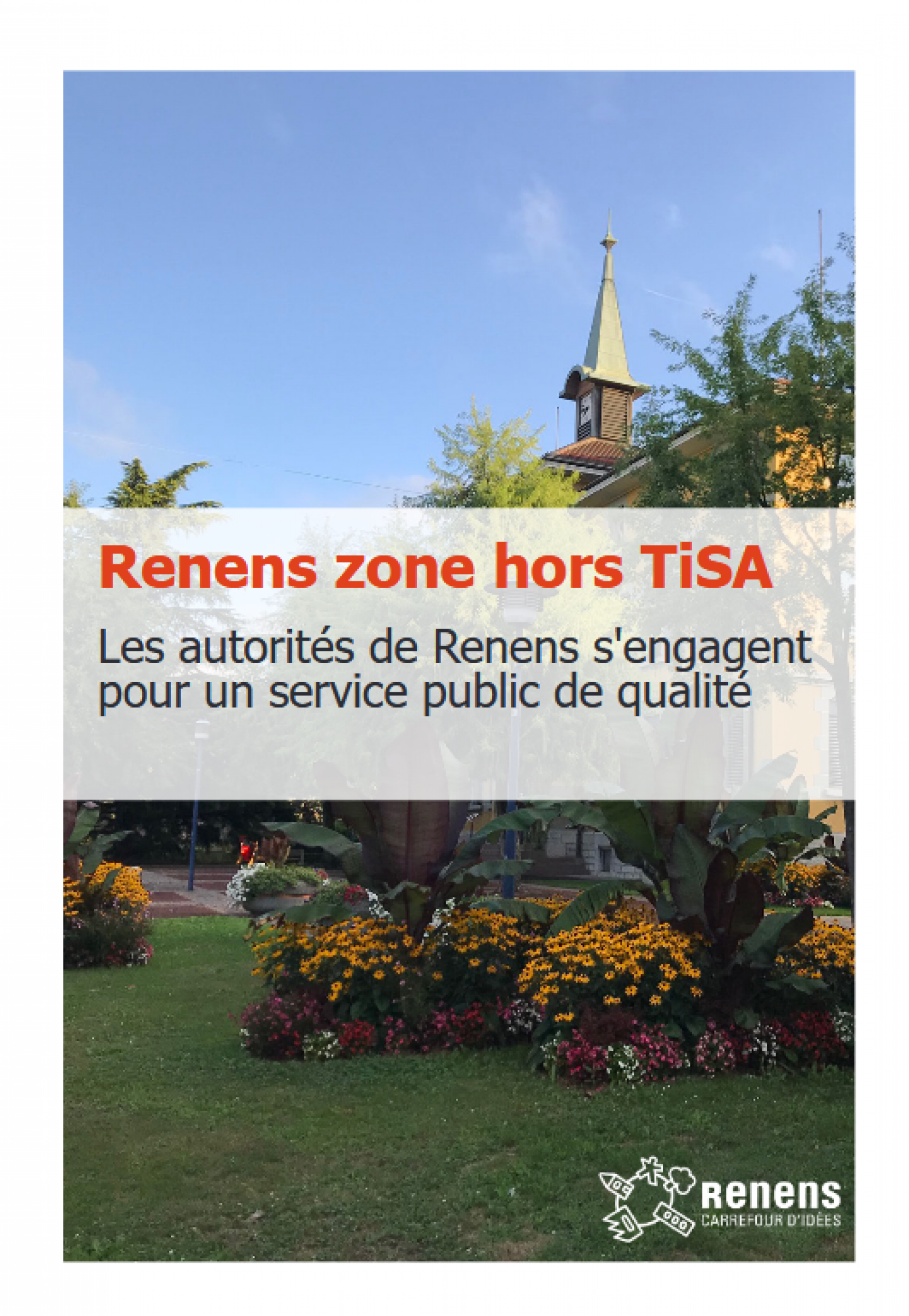 "Brochure ""Renens commune hors TiSA"""