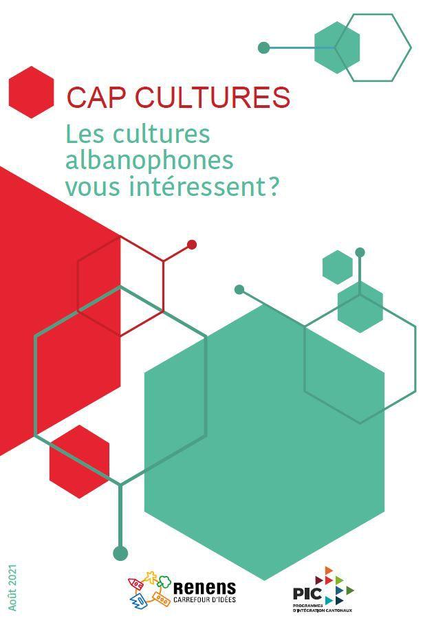 Cap Cultures, un flyer pour découvrir les associations et activités albanophones de l'Ouest lausannois