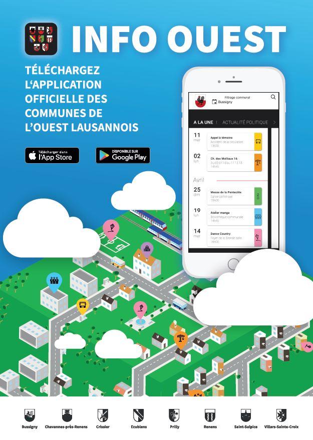 Info Ouest - l'App pour les communications officielles des communes de l'Ouest