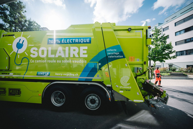 Nouveau: une collecte de déchets 100% électrique à Renens!
