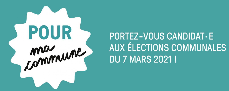 Vous vous intéressez à la vie politique? Portez-vous candidat.e aux élections communales du 7 mars 2021!