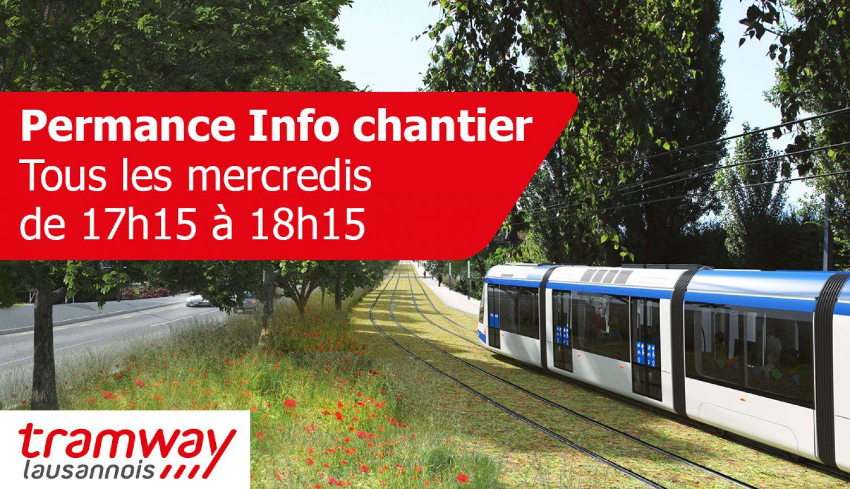 Tramway lausannois - Permanence Info chantier tous les mercredis