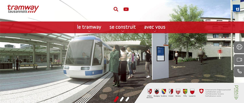 Site web du tramway lausannois