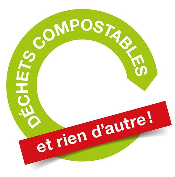 Pas de plastique dans le compost svp !